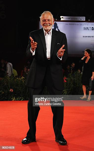 Director George A Romero attends the 'Survival Of The Dead' premiere at the Sala Grande during the 66th Venice Film Festival on September 9 2009 in...