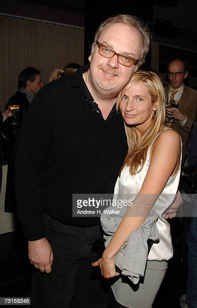 Director George Hickenlooper and producer Holly Wiersma attend a dinner for Factory Girl hosted by The Cinema Society and Calvin Klein at the...