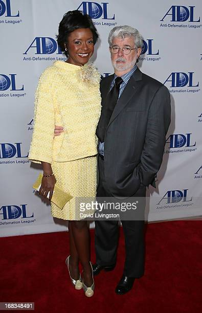 Director George Lucas and Mellody Hobson attend the AntiDefamation League Centennial Entertainment Industry Awards Dinner honoring Jeffrey Katzenberg...