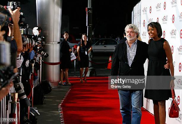 Director George Lucas and Meloday Hobson arrive at AFI's 40th Anniversary celebration presented by Target held at Arclight Cinemas on October 3 2007...