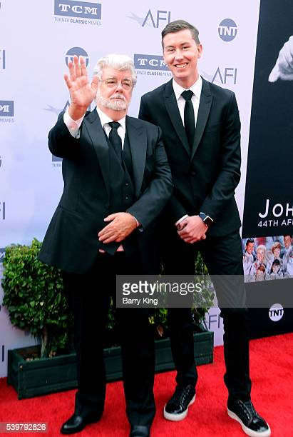 Director George Lucas and son Jett Lucas attend American Film Institute's 44th Life Achievement Award Gala Tribute to John Williams at Dolby Theatre...