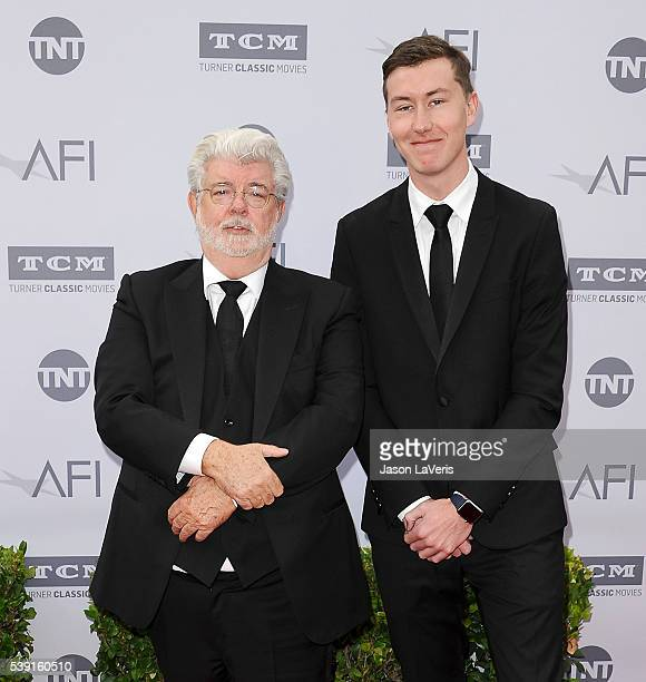 Director George Lucas and son Jett Lucas attend the 44th AFI Life Achievement Awards gala tribute at Dolby Theatre on June 9 2016 in Hollywood...