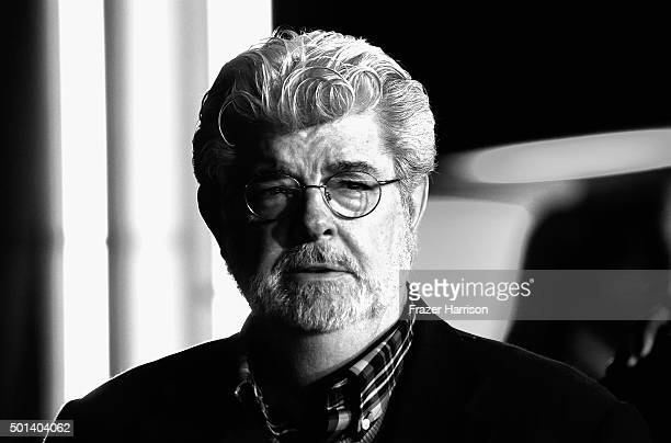 Director George Lucas arrives at The Premiere of Walt Disney Pictures and Lucasfilm's 'Star Wars The Force Awakens' on December 14 2015 in Hollywood...