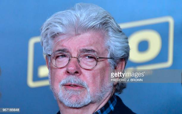 Director George Lucas arrives for the premiere of the film 'Solo: A Star Wars Story' in Hollywood, California on May 10, 2018.