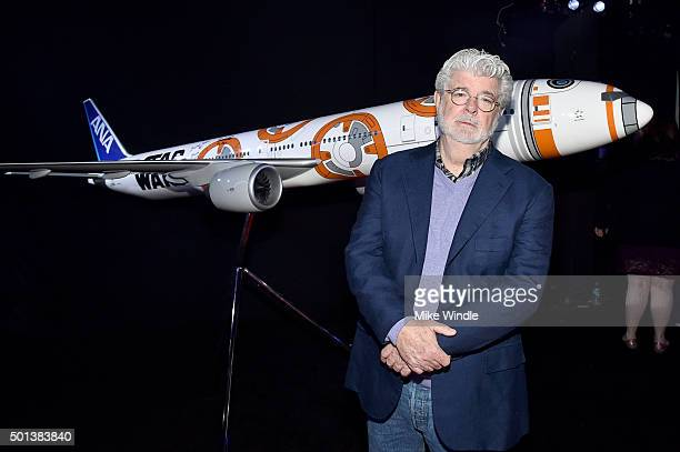"Director George Lucas attends the World Premiere of ""Star Wars The Force Awakens"" at the Dolby El Capitan and TCL Theatres on December 14 2015 in..."