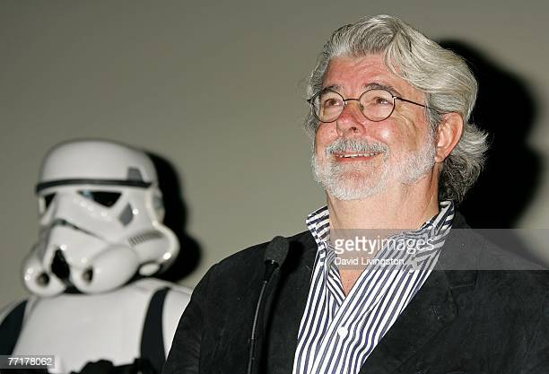 ACCESS*** Director George Lucas presents the film 'Star Wars Episode IV A New Hope' at AFI's 40th Anniversary celebration presented by Target held at...