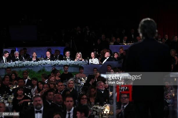 Director George Lucas, Samantha Winslow, AFI Life Achievement Award Recipient John Williams, director Steven Spielberg, actress Kate Capshaw,...