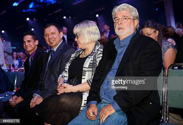 Director George Lucas sits in the audience before the Disney Legends Awards during the D23 Expo 2015 in Anaheim California US on Friday Aug 14 2015...
