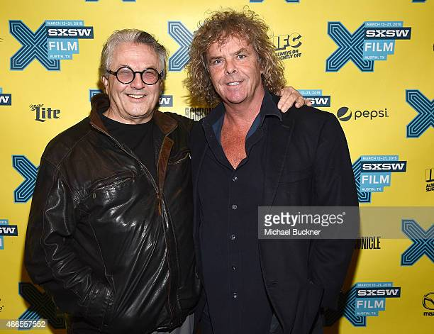 Director George Miller and producer Doug Mitchell arrive at The Road Warrior screening during the 2015 SXSW Music FIlm Interactive Festival at the...