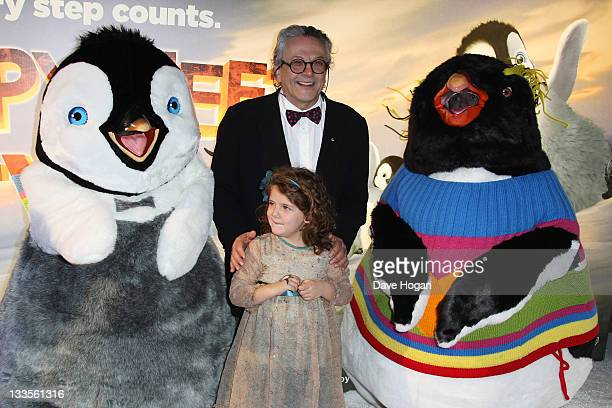Director George Miller attends the European premiere pre party of Happy Feet Two at The Great Connaught Rooms on November 20 2011 in London United...
