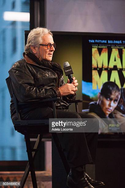 Director George Miller discusses Mad Max Fury Road at AOL Studios In New York on January 5 2016 in New York New York