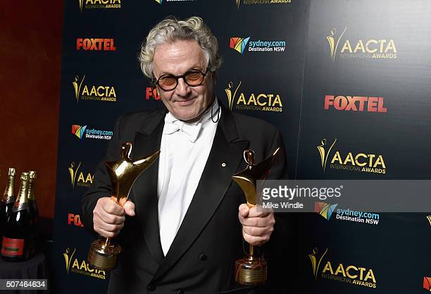 Director George Miller, winner of Best Director and Best Film for 'Mad Max: Fury Road', poses backstage during the 5th AACTA International Awards at...