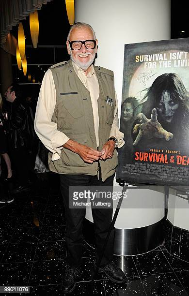 Director George Romero arrives at the Los Angeles premiere of his new movie 'Survival Of The Dead' at the Arclight Hollywood Theatre on May 11 2010...