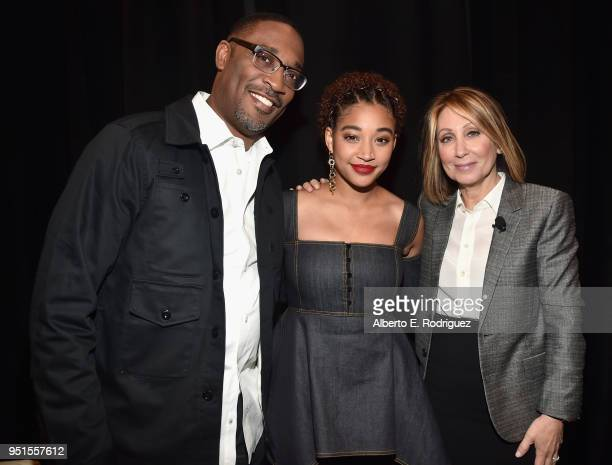 Director George Tillman Jr actor Amandla Stenberg and Chairman and CEO 20th Century Fox Stacey Snider attend CinemaCon 2018 20th Century Fox Invites...