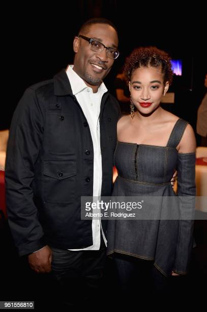 Director George Tillman Jr and actor Amandla Stenberg attend CinemaCon 2018 20th Century Fox Invites You to a Special Presentation Highlighting Its...