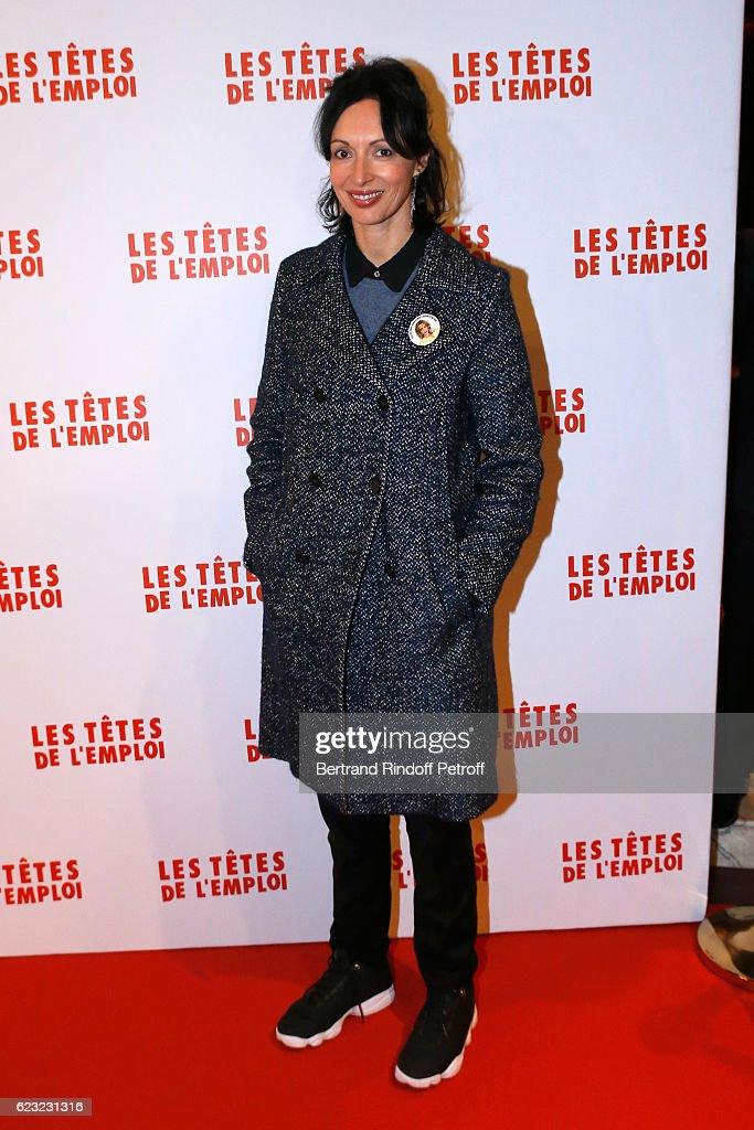 Director Geraldine Maillet attends 'Les Tetes de l''Emploi' Paris Premiere at Cinema Gaumont Opera Capucines on November 14, 2016 in Paris, France.