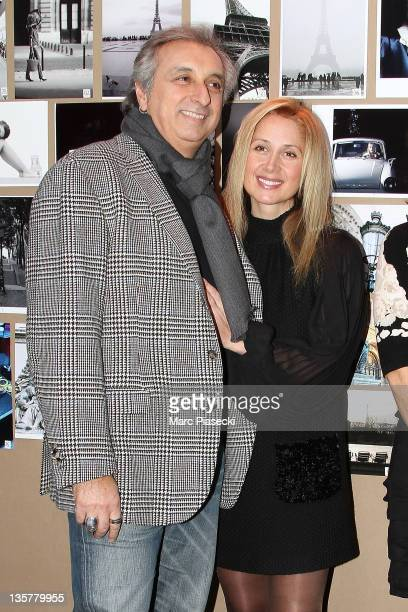 TV director Gerard Pulliccino and wife singer Lara Fabian attend the first 'Hotel de Sers' photo Award at Hotel de Sers on December 14 2011 in Paris...