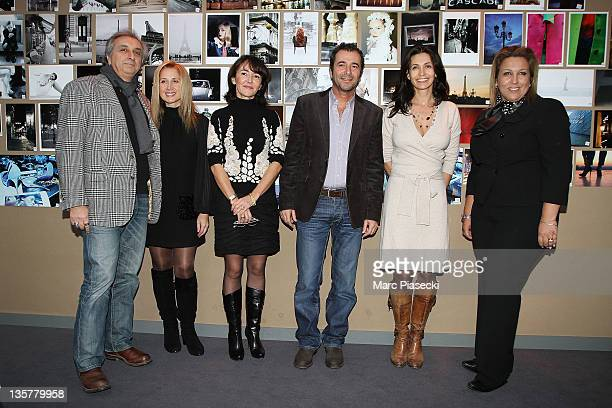 TV director Gerard Pulliccino Singer Lara Fabian Anne Jousse Bernard Montiel actress Adeline Blondieau and Jennifer Boccara attend the first 'Hotel...