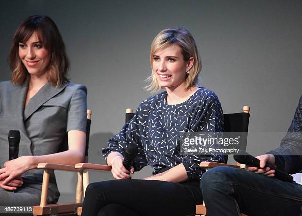 Director Gia Coppola and actress Emma Roberts attend Apple Store Soho Presents Tribeca Film Festival 'Palo Alto' during the 2014 Tribeca Film...
