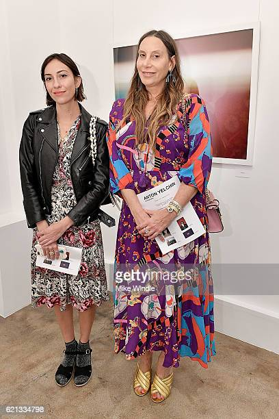 Director Gia Coppola and Jacqui Getty attend the opening of the Anton Yelchin photography exhibit at Other Gallery on November 5 2016 in Los Angeles...