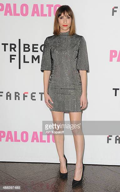 Director Gia Coppola arrives at the Los Angeles Premiere 'Palo Alto' at the DGA Theatre on May 5 2014 in Los Angeles California