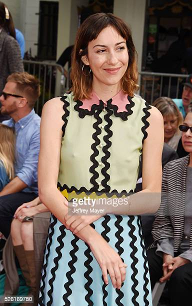 Director Gia Coppola attends his Hand and Footprint Ceremony at TCL Chinese Theatre IMAX on April 29 2016 in Hollywood California