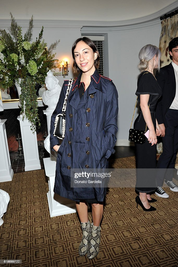 Director Gia Coppola, in Burberry, attends the Vanity Fair and Burberry event celebrating Felicity Jones and the British Academy Britannia Awards at Chateau Marmont on October 27, 2016 in Los Angeles, California.