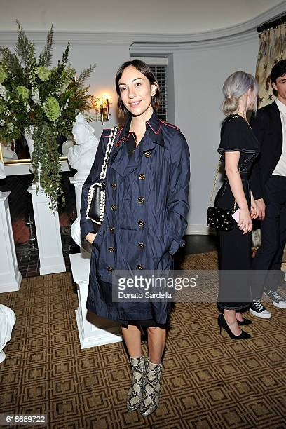 Director Gia Coppola in Burberry attends the Vanity Fair and Burberry event celebrating Felicity Jones and the British Academy Britannia Awards at...