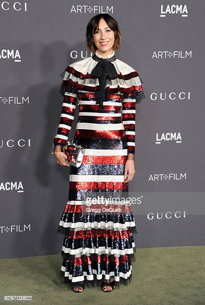 Director Gia Coppola wearing Gucci arrives at the 2016 LACMA Art Film Gala Honoring Robert Irwin And Kathryn Bigelow Presented By Gucci at LACMA on...