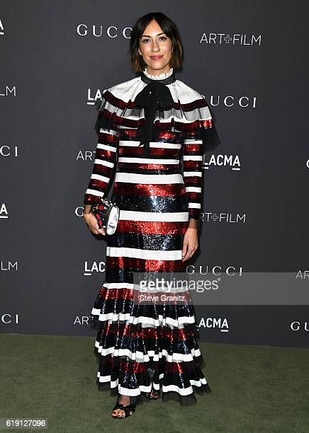 Director Gia Coppola wearing Gucci attends the 2016 LACMA Art Film Gala honoring Robert Irwin and Kathryn Bigelow presented by Gucci at LACMA on...