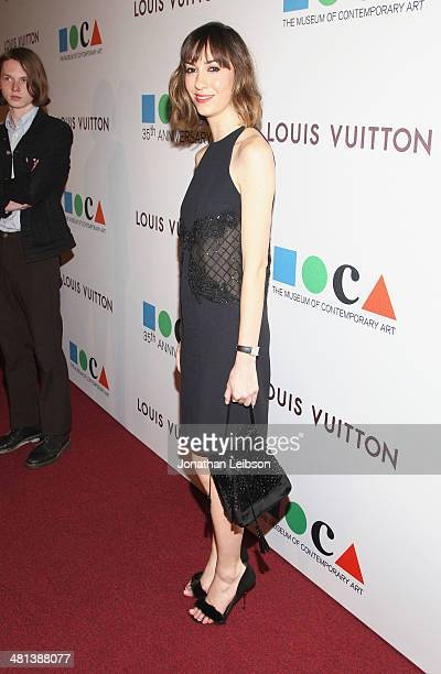 Director Gia Coppola wearing Louis Vuitton attends MOCA's 35th Anniversary Gala presented by Louis Vuitton at The Geffen Contemporary at MOCA on...