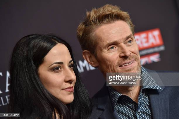Director Giada Colagrande and actor Willem Dafoe arrive at The BAFTA Los Angeles Tea Party at Four Seasons Hotel Los Angeles at Beverly Hills on...