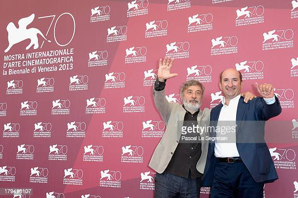 Director Gianni Amelio and actor Antonio Albanese attend 'L'Intrepido' Photocall during the 70th Venice International Film Festival at Palazzo del...