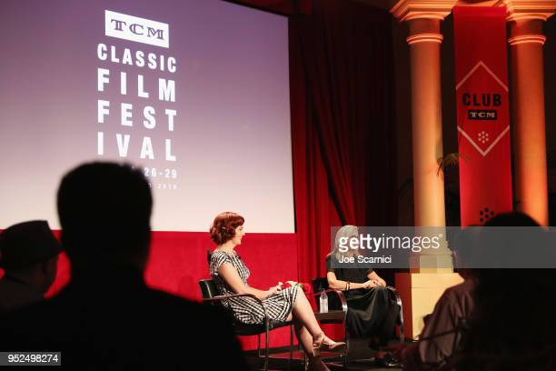 Director Gillian Armstrong and TCM Filmstruck host Alicia Malone speak onstage at 'A Conversation with Gillian Armstrong' during day 3 of the 2018...