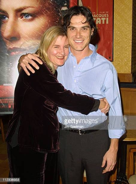 Director Gillian Armstrong & Billy Crudup during Charlotte Gray Premiere Party at Pigalle Bar and Brasserie in New York City, New York, United States.