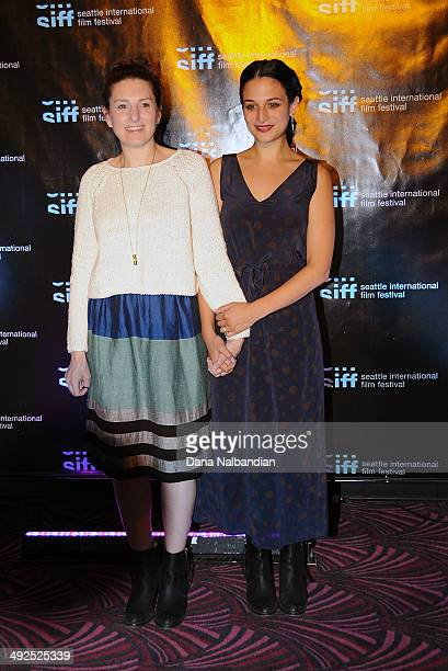 Director Gillian Robespierre and Actress Jenny Slate at the Egptian Theater screening of Obvious Child on May 20 2014 in Seattle Washington