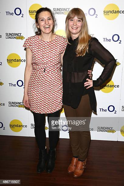 Director Gillian Robespierre and Karen Maine attend the 'Obvious Child' screening during the Sundance London Film and Music Festival 2014 at 02 Arena...