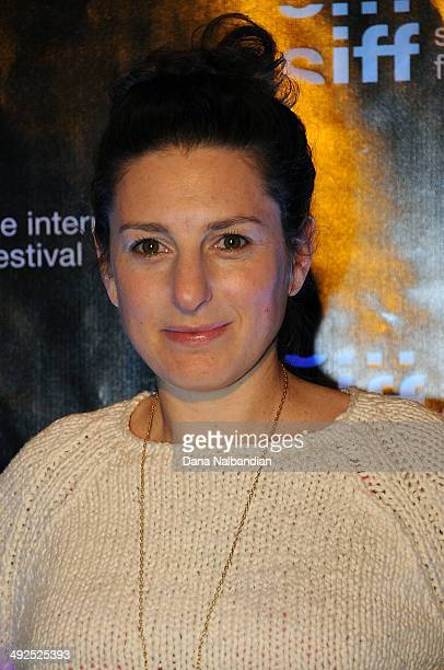 <Director Gillian Robespierre at the Egptian Theater screening of Obvious Child on May 20 2014 in Seattle Washington
