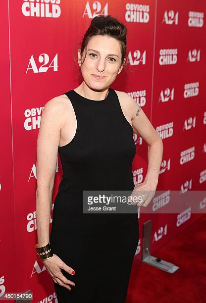 Director Gillian Robespierre attends the Screening of A24's Obvious Child at the ArcLight Hollywood on June 5 2014 in Hollywood California