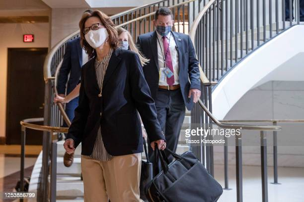 Director Gina Haspel arrives for a closed door briefing at the US Capitol on July 02 2020 in Washington DC