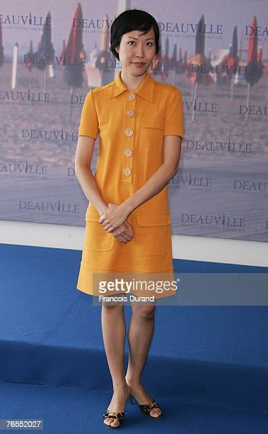 "Director Gina Kim of South Korea attends a photocall for her film ""Never Forever"" during the 33rd Deauville American Film Festival September 6, 2007..."