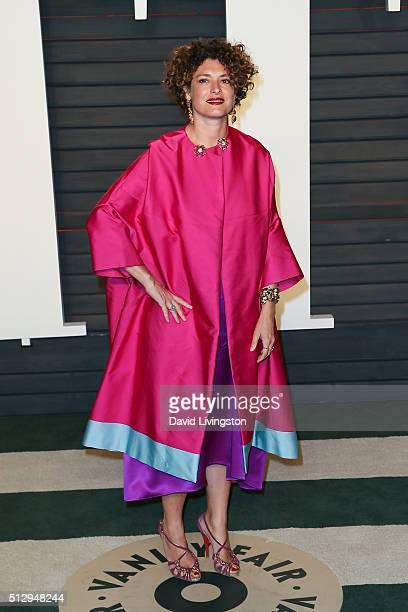 Director Ginevra Elkann arrives at the 2016 Vanity Fair Oscar Party Hosted by Graydon Carter at the Wallis Annenberg Center for the Performing Arts...