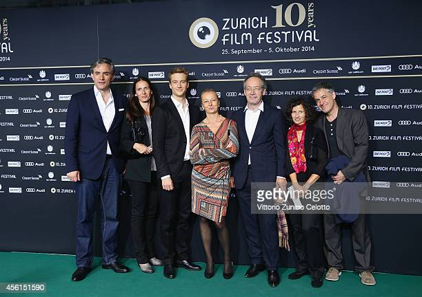 Director Giulio Ricciarell actor Alexander Fehling and members of cast and crew attend the 'Im Labyrinth des Schweigens' Green Carpet Arrivals during...