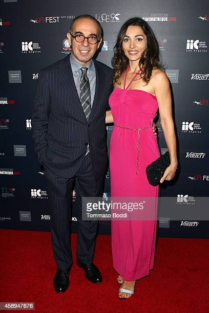 Director Giuseppe Tornatore and actress Carlotta Montanari attend the American Cinematheque Film Series Cinema Italian Style opening night gala held...