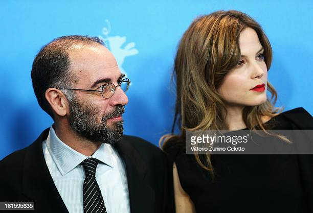 Director Giuseppe Tornatore and actress Sylvia Hoeks attend the 'The Best Offer' Photocall during the 63rd Berlinale International Film Festival at...
