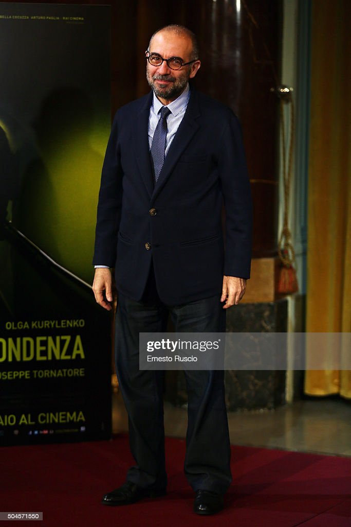 Director Giuseppe Tornatore attends the 'La Corrispondenza' photocall at Hotel St Regis on January 11, 2016 in Rome, Italy.