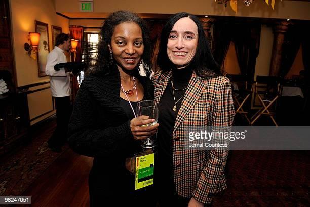 Director Glenda Wharton and Silke Popp attend Patron Circle Reception during the 2010 Sundance Film Festival at Wahso Asian Grill on January 28 2010...