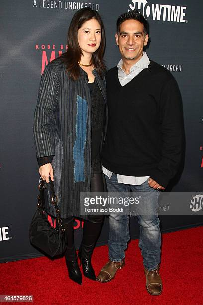 Director Gotham Chopra and Candice Chen attend the premiere event for the Showtime cocumentary Kobe Bryant's Muse held at The London Hotel on...