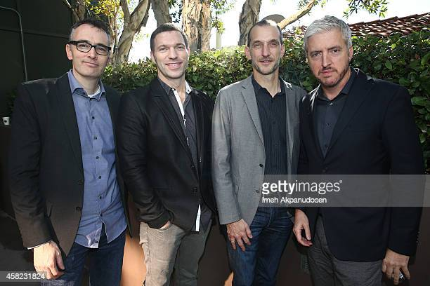 Director Graham Annable producer Travis Knight director Anthony Stacchi and writer Anthony McCarten attend Deadline's The Contenders at DGA Theater...