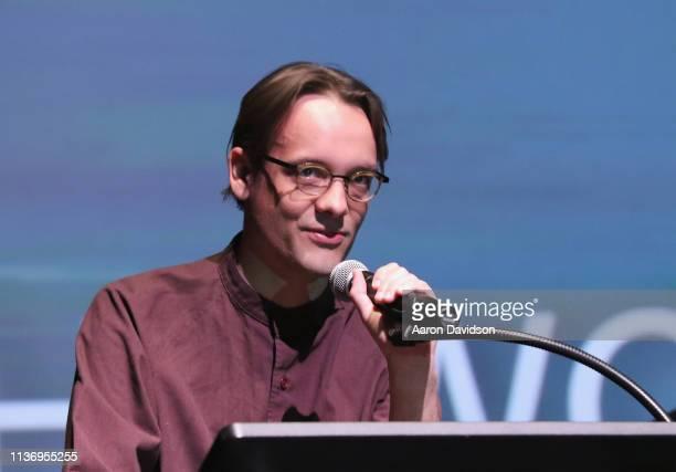 Director Graham Swon speaks onstage during the 2019 Sarasota Film Festival on April 12 2019 in Sarasota Florida
